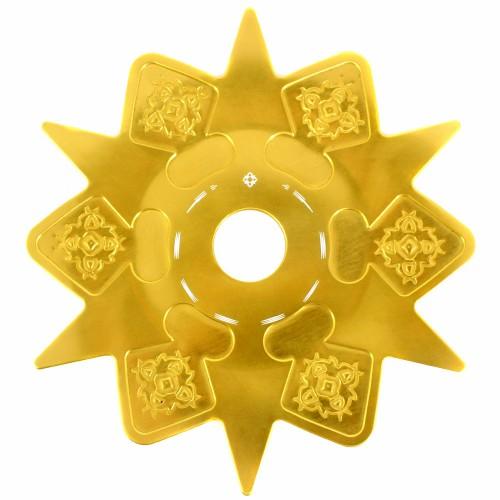 Prato Narguile Amazon Astéris Dourado