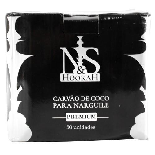 Carvão Ns Hookah Premium 1Kg 50 Peças