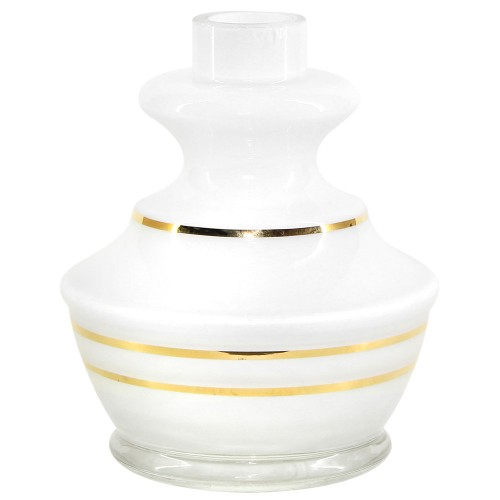 Vaso Narguile Pequeno Md Hookah Agra Gold Branco