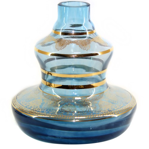 Vaso Narguile Pequeno Shisha Glass Mini Style Flower Azul