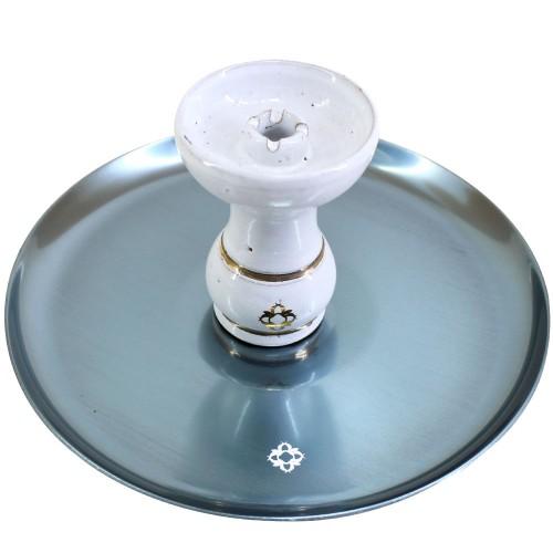 Narguile Amazon Future Marmorizado Metal Onix Vaso Fumê Rigado