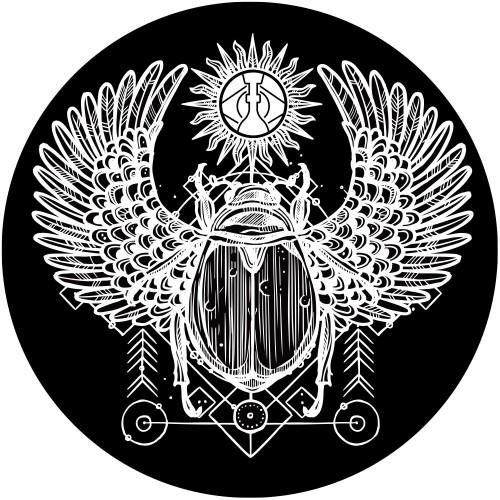 Tapete para Base Arguilebr Escaravelho Branco