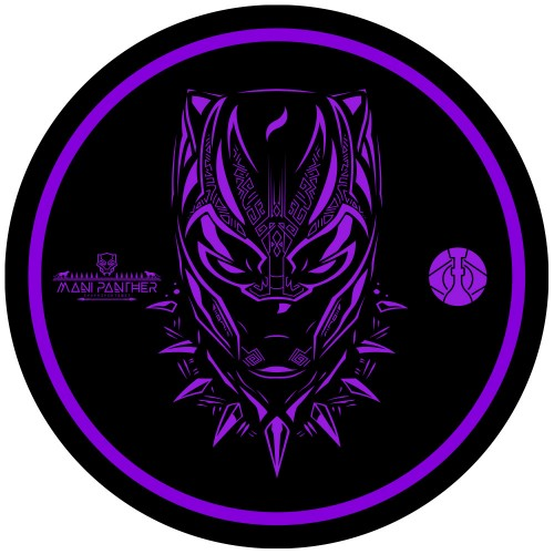 Tapete para Base Arguilebr Mani Sultan Black Panther Pantera Negra