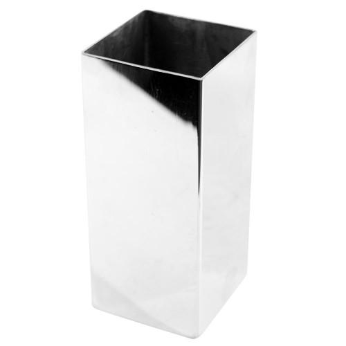 Copo Aço Inox Terere Quadrado Prata