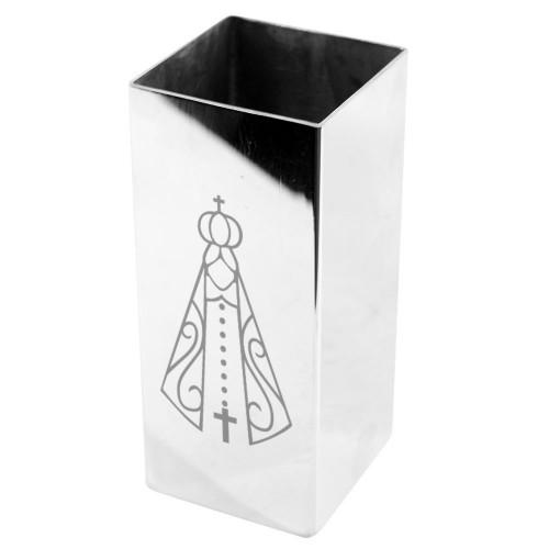 Copo Quadrado Personalizado Inox Terere Nossa Senhora Aparecida