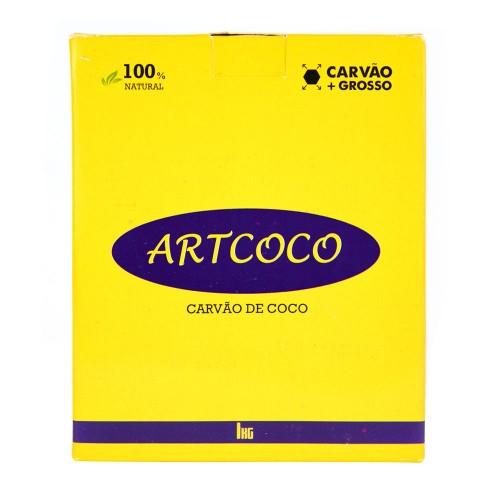 Carvão Narguile Artcoco + Grosso Hexagonal 1kg