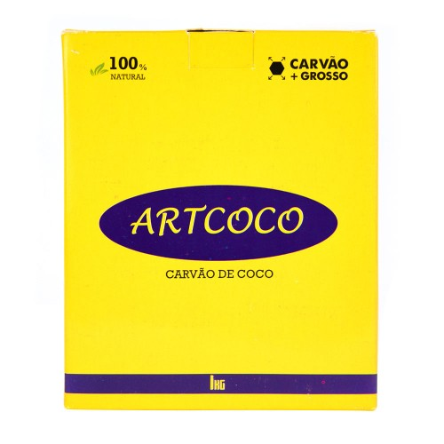 Carvão Narguile Artcoco Mais Grosso Hexagonal 1kg