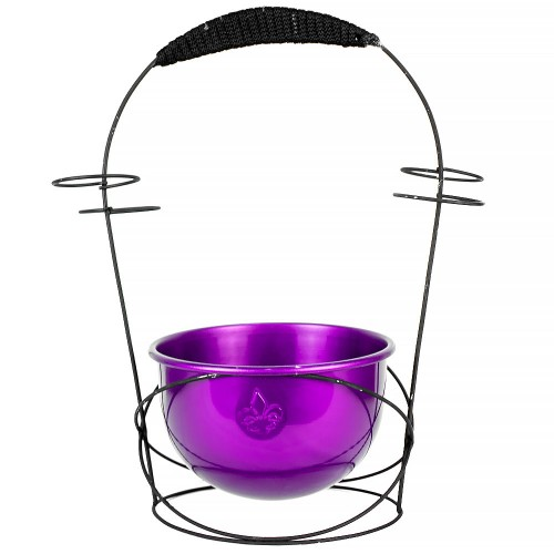 Holder de Carvão Wire Hookah Roxo