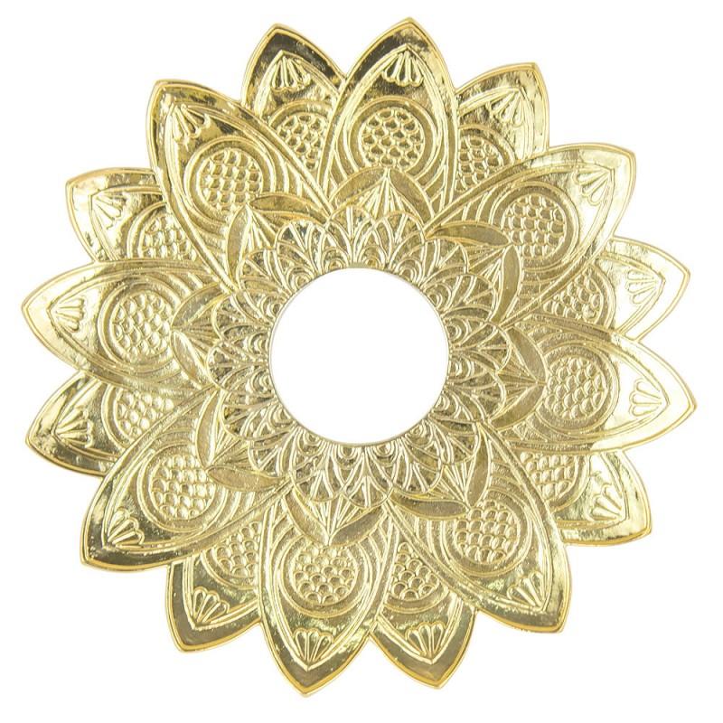 Prato Narguile Pequeno Alusi Zen Dourado