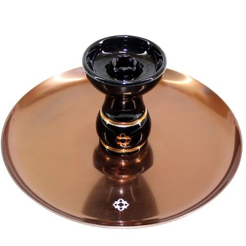 Narguile Amazon Future Marmorizado Piopo Metal Cobre Vaso Transparente