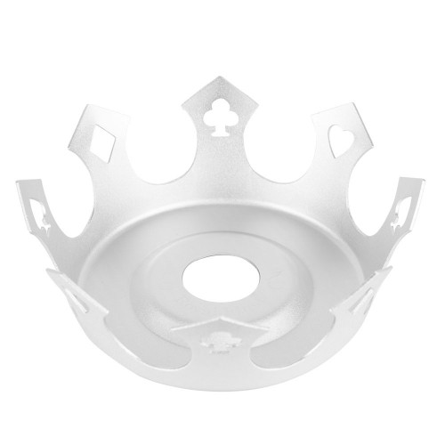 Prato Crown Coroa Zenith Royal Flush Prata