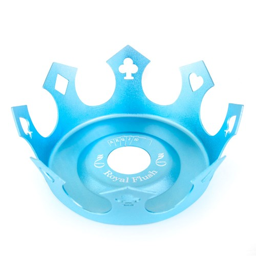 Prato Crown Coroa Zenith Royal Flush Azul Bebe