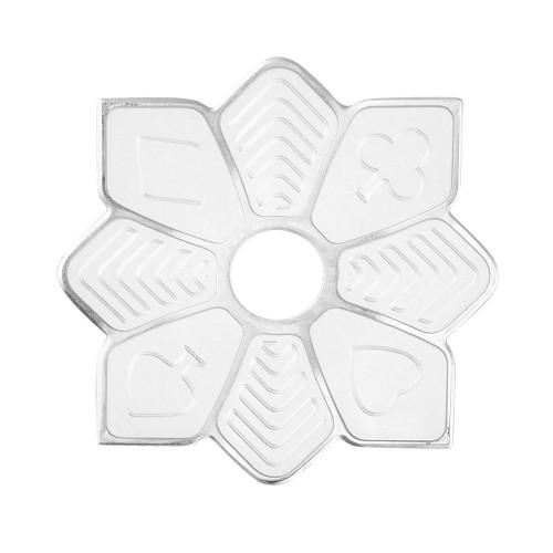 Prato Estrela Mini Zenith Flush Prata