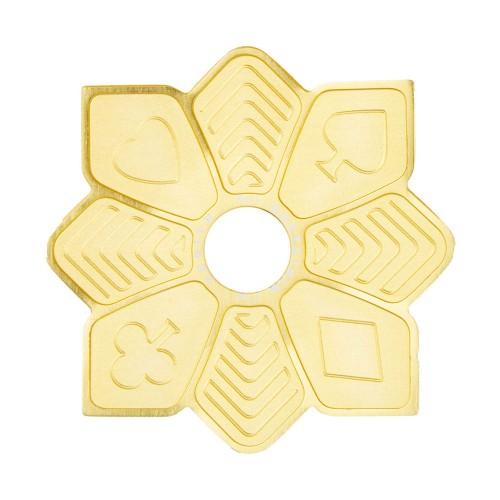 Prato Estrela Mini Zenith Flush Dourado