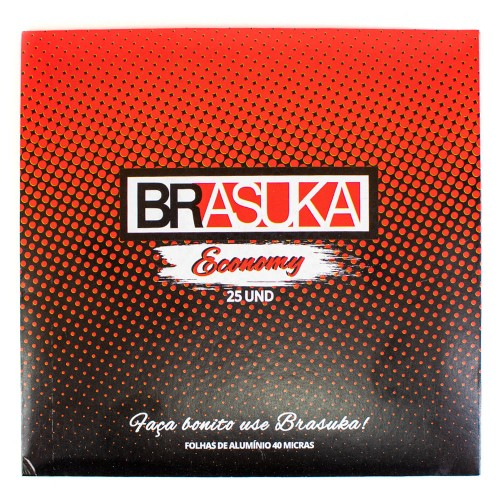 Papel Alumínio Brasuka 25 folhas