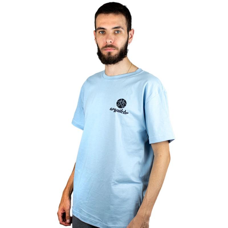 Camiseta ArguileBr Azul Bebe Logo Preta