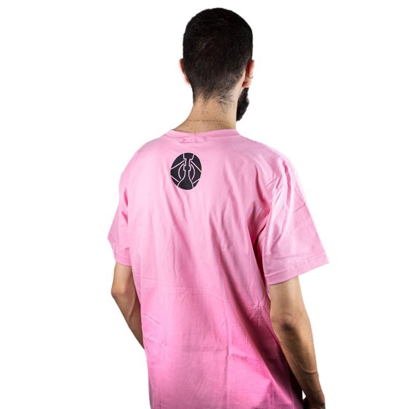 Camiseta ArguileBr Rosa Logo Preta