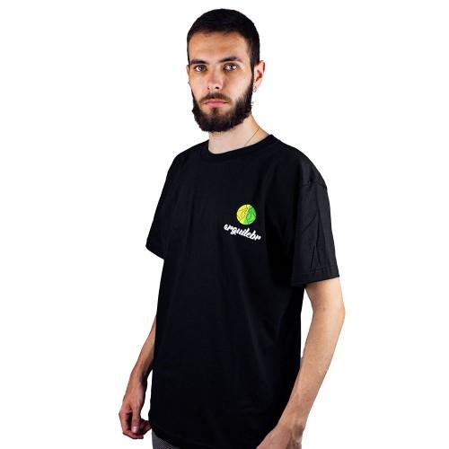 Camiseta ArguileBr Preta Logo Colorida