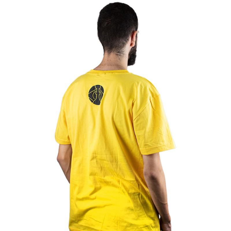 Camiseta ArguileBr Amarela Logo Preta