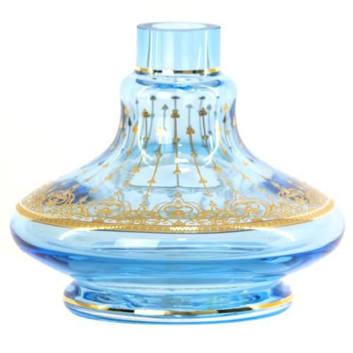 Vaso Narguile Pequeno Md Genie Little Curve Azul Arabesco