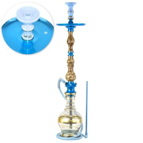 Narguile Grande Amazon Luxury Piopo Metal Azul Prato New Universal Rosh Seven