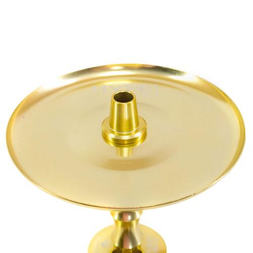 Narguile Pequeno Mahalla Hype Mini Dourado Vaso Transparente