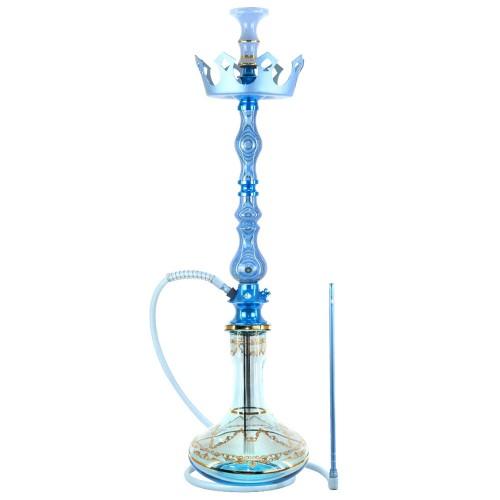 Narguile Grande Amazon Luxury Unique Azul Metal Azul Prato Zenith Coroa Rosh Seven