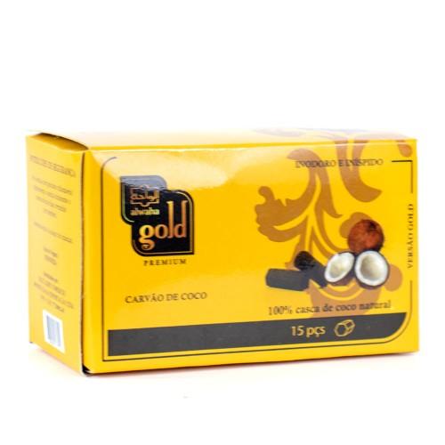 Carvão Narguile Alwaha Gold Hexagonal 250g