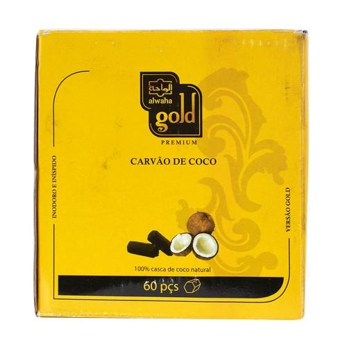 Carvão Narguile Alwaha Gold Hexagonal 1kg