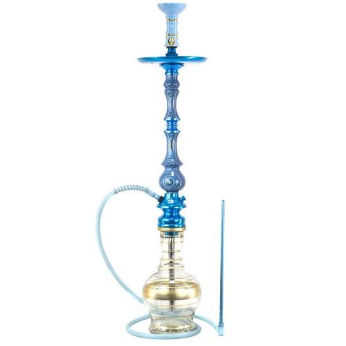 Narguile Grande Amazon Kaiser Unique Azul Metal Azul Prato New Universal Rosh Alusi Take