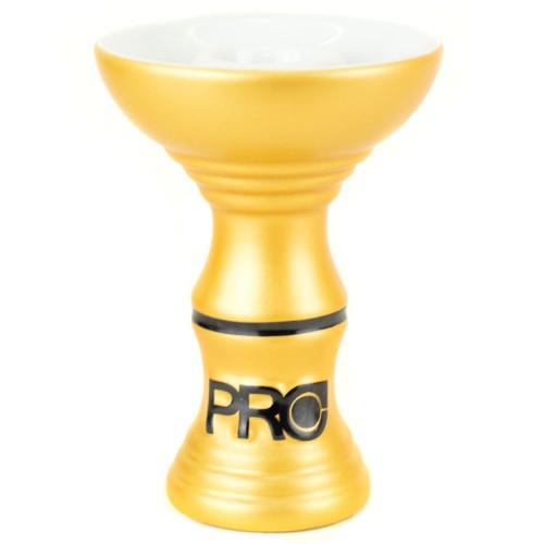 Ceramica Rosh Narguile Pro Hookah Phunnel Dourado Metalizado e Branco