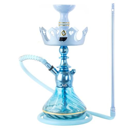 Narguile Sultan Kini Colors Azul Claro Prato Zenith Coroa Pequeno Rosh Alusi Kiso Gold