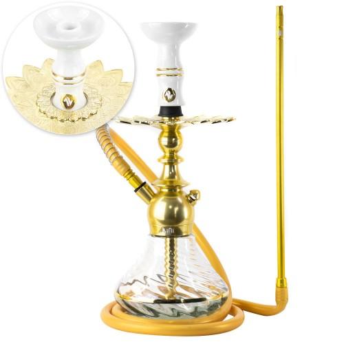 Narguile Sultan Kini Colors Dourado Prato Alusi Zen Pequeno Rosh Alusi Kiso Gold