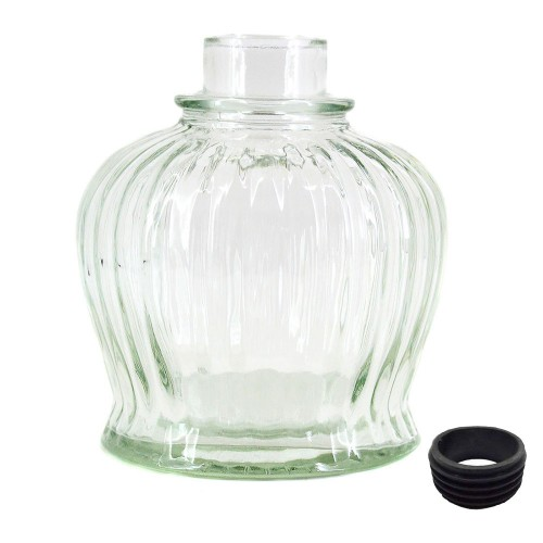 Vaso Narguile Pequeno QT Transparente