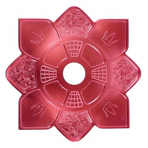 Prato Narguile Hookah King Imperial Vermelho