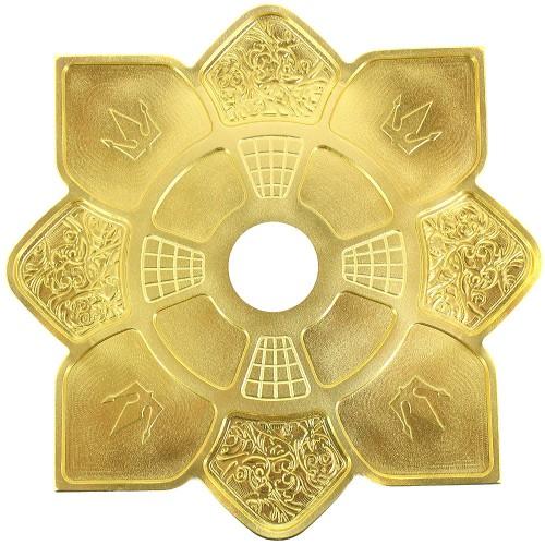 Prato Narguile Hookah King Imperial Dourado