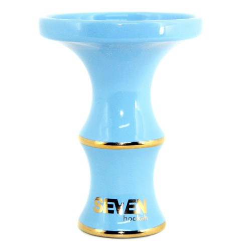 Ceramica Rosh Narguile Seven Bowl Gold Edition Azul Claro
