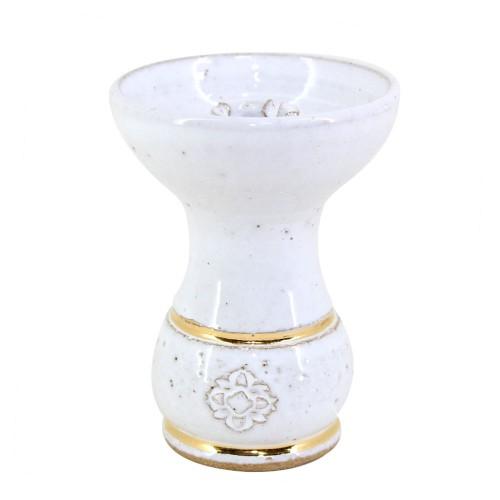 Ceramica Rosh Pequena Amazon Bowl Gold Branco