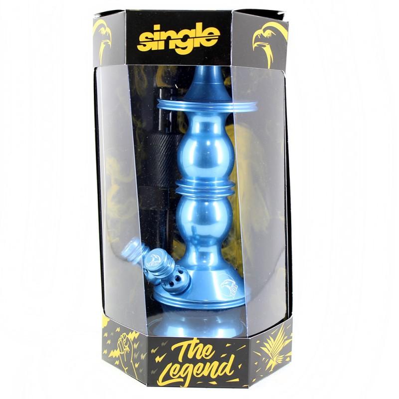 Stem Narguile Pequeno Zeus Single Azul Bebe Dois Respiros