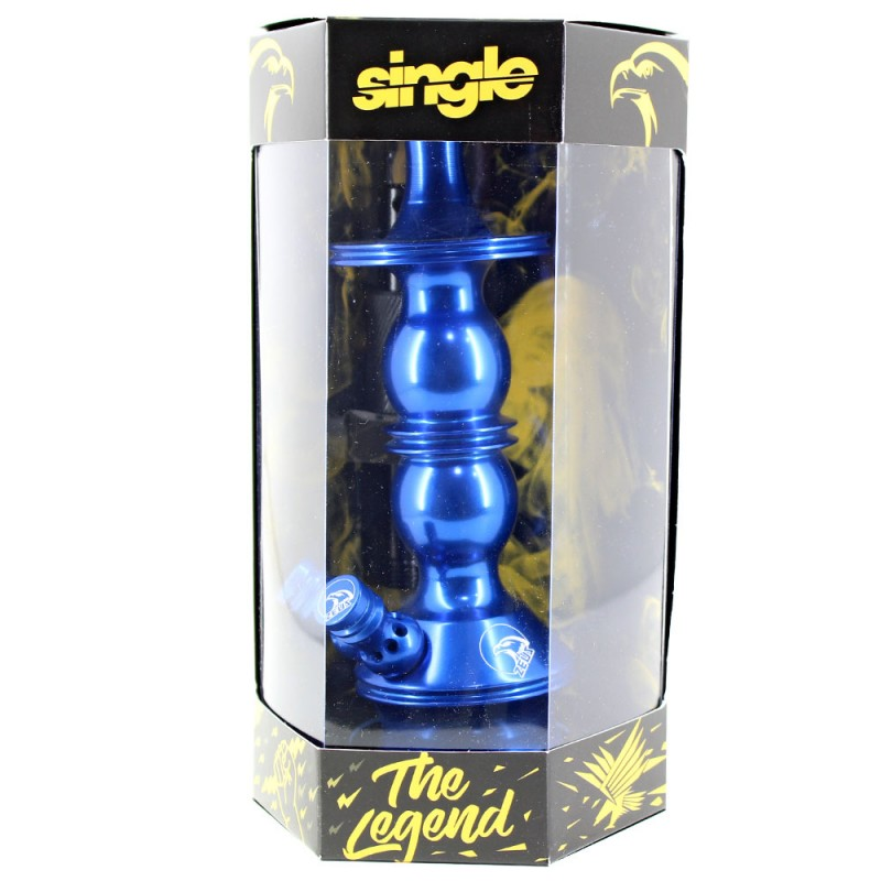 Stem Narguile Pequeno Zeus Single Azul Escuro Dois Respiros
