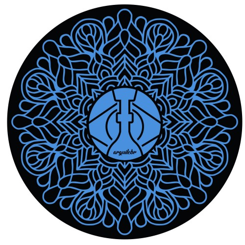Tapete para Base Arguilebr Mandala Azul