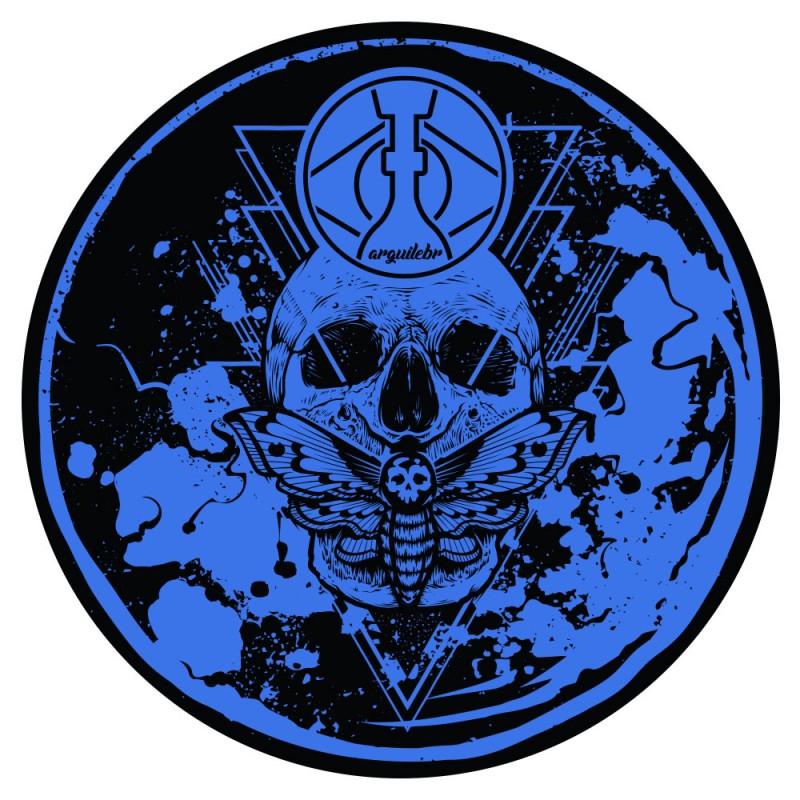 Tapete para Base Arguilebr Caveira Azul