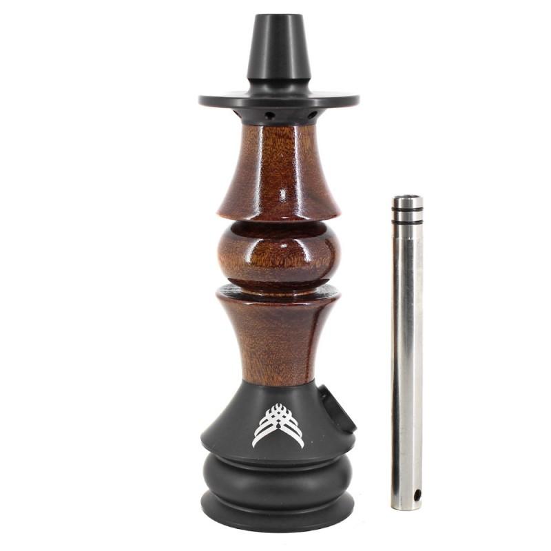 Stem Narguile Pequeno Marajah Nano Umbrella Preto e Madeira