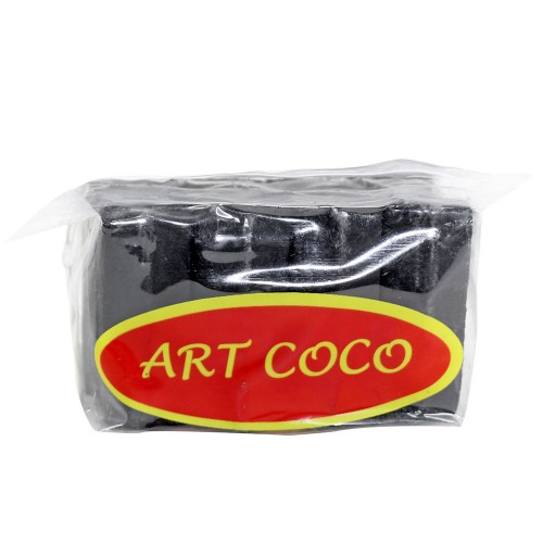 Carvão Narguile Art Coco Hexagonal 12 Peças