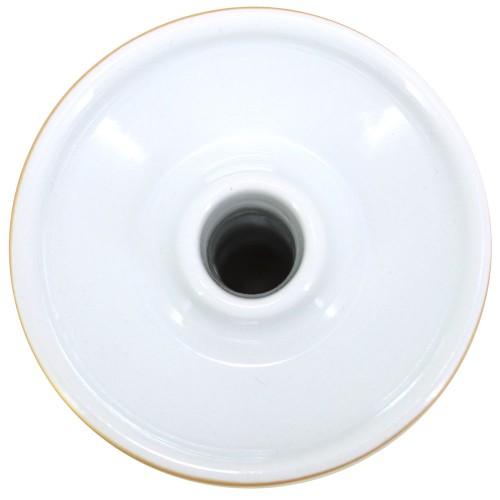 Ceramica Rosh Narguile Seven Bowl Dourado e Branco