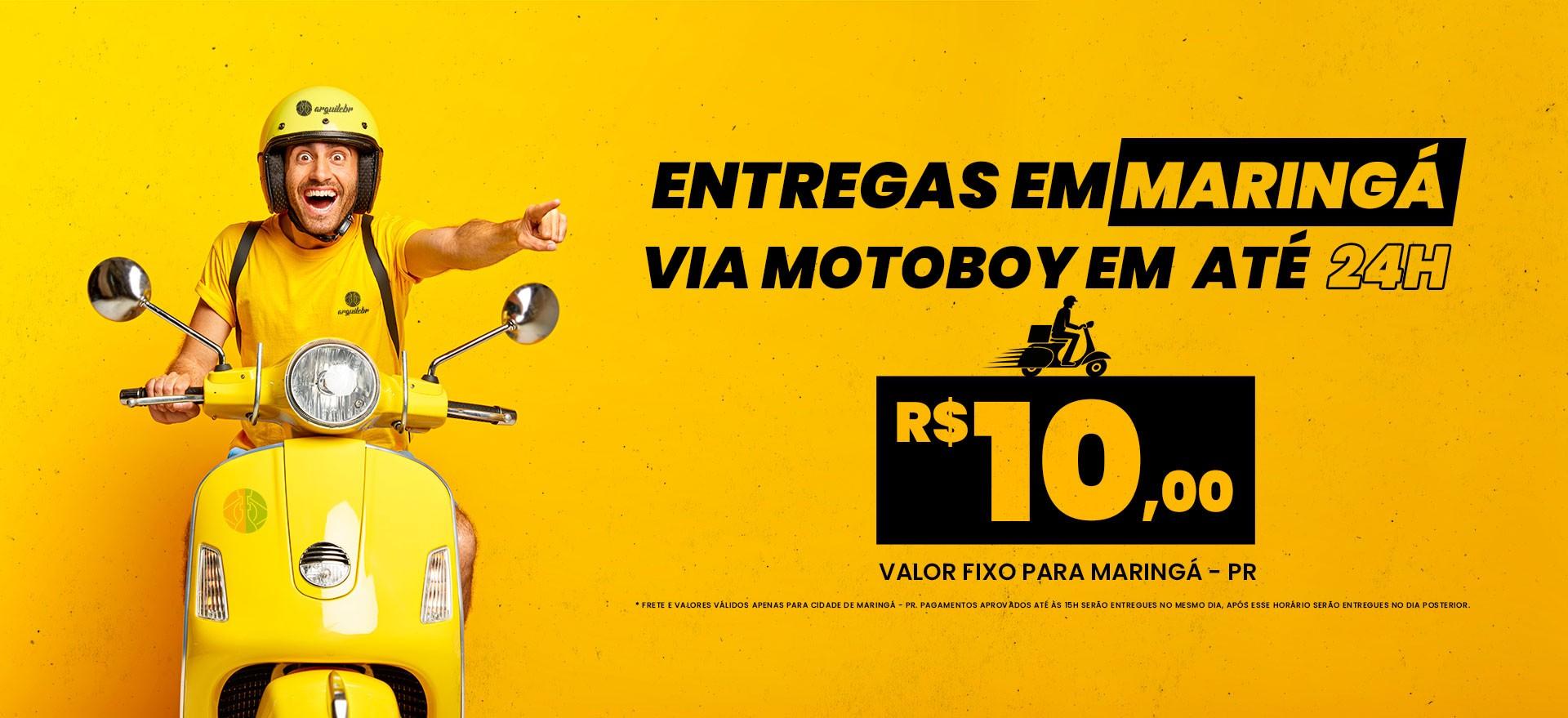 Entregas em até 24h via motoboy em Maringá
