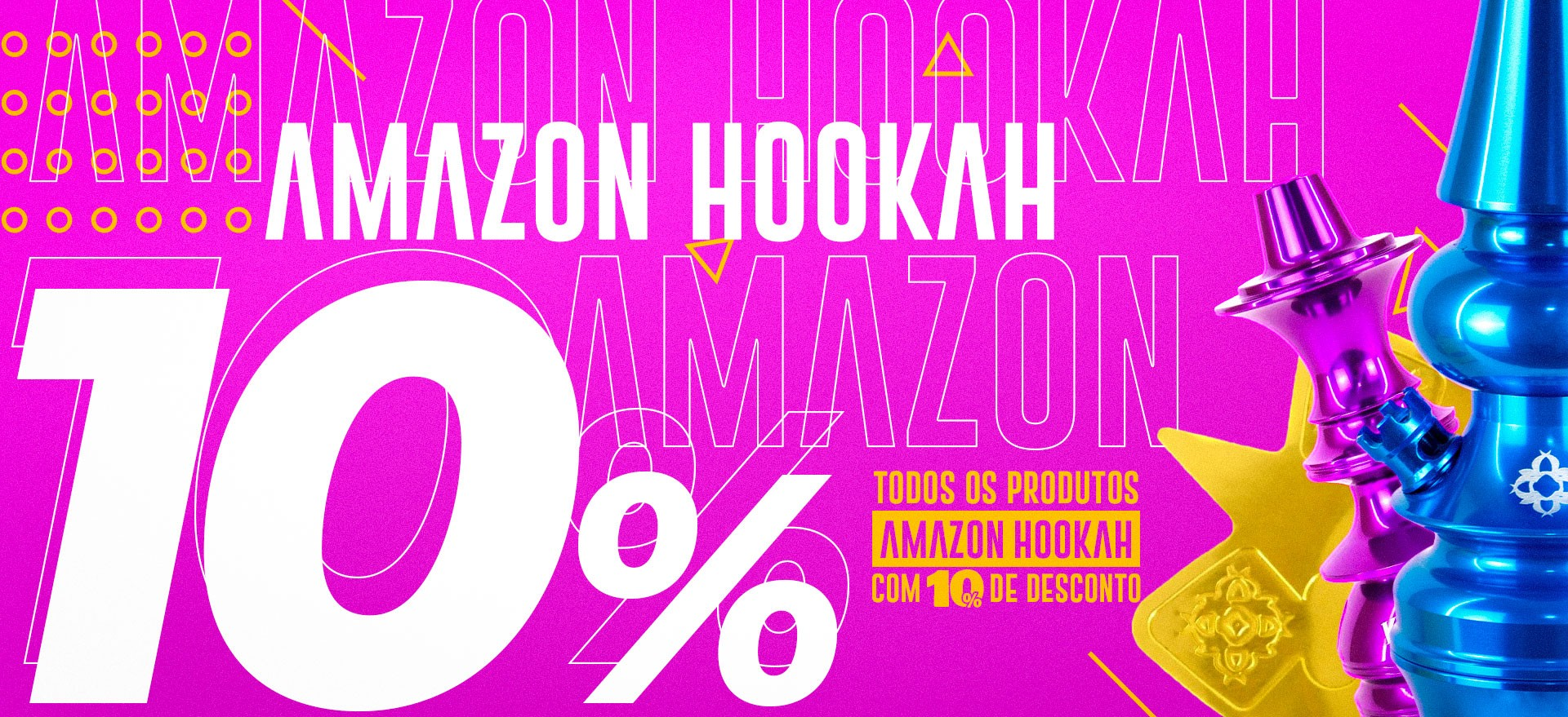 Promoção Amazon Hookah 10% Narguile Amazon