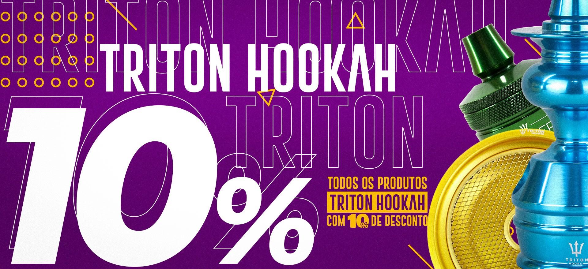 Promoção Triton Hookah 10% Narguile
